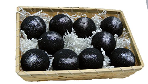 Basket of Bombs! 10 pcs. Black Bath Bombs 5.7 oz Aloe Vera Kaolin Clay scented w/Little Black Dress