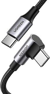 UGREEN USB C till USB C kabel PD 100W 20V/ 5A 90 graders USB typ C datakabel för Samsung S20 S10 MacBook Air 2020/ 2019 iP...
