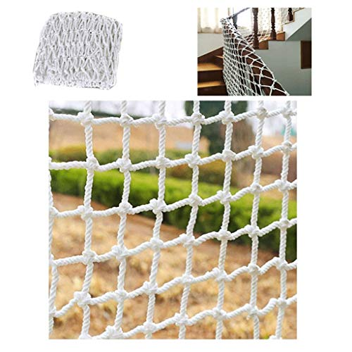Filet de Sécurité Enfant Filet de Protection Balcon Protection Filet de Sécurité Escalier Filet Extérieur Décoratif Blanc Filet Décoratif Anti-chat Net Net (filet 10cm / Épaisseur de Corde 6mm)