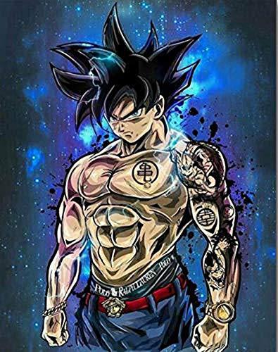 KaiWenLi Serie de la Bola del dragón/Goku Azul del Fondo del Modelo/Pintura Animación Diamante/DIY Hecho a Mano Creación / 5D Pintura Regalo Creativo/for decoración de la Pared