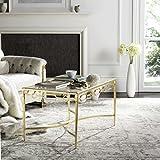 Safavieh Home Collection Lura Gold Leaf Retro Coffee Table