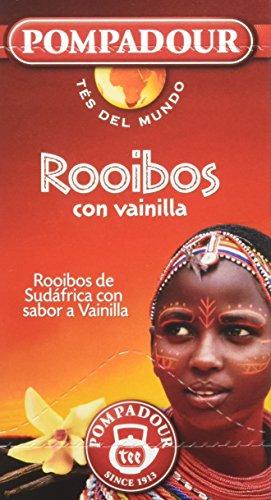 Infusión de Rooibos con vainilla, elaborada con las hojas del arbusto proveniente de la región ubicada en los alrededores de las montañas Ceder (Sudáfrica) Ideal tanto para adultos como para niños, no contiene cafeína 20 bolsitas en envueltas herméti...