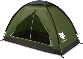 Night Cat Backpacking Tent for One 1 to 2 Persons Lightweight Waterproof Camping Hiking Tent for Adults Kids Scouts Easy S...