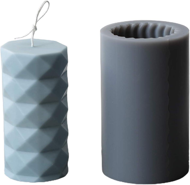 JSFGFSDH Moule /à bougie cylindrique 3D en silicone pour fabrication de bougies en cire de soja cire dabeille