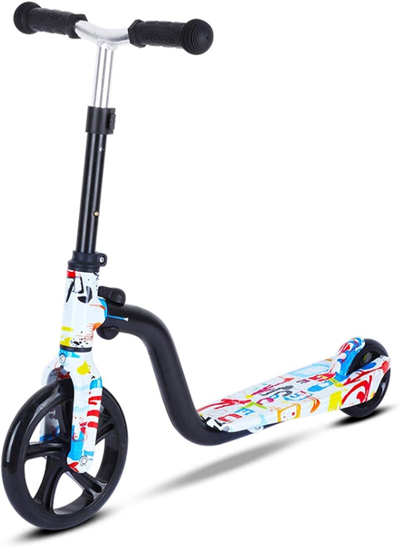 H&1 Patineta Junior Scooter, Adecuado para niños, Ruedas Grandes duraderas, Ruedas agrandadas, Pase Suavemente por la Carretera, el Scooter es Adecuado para niños de