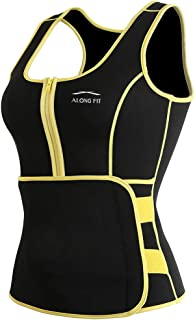 ALONG FIT Neoprene Sweat Sauna Vest for Women Weight Loss...