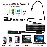 Avete bisogno di sapere–questa telecamera wireless WiFi endoscopio non funzionano solo con Android Smartphone (Android 4.2), ma anche i dispositivi iPhone iOS (sopra iOS 7.0). Sia come un borescop Wireless, ti aiuta a trovare facilmente/riparazione...