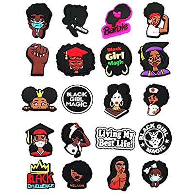 Black Girl Magic Shoe Charms, BLM Charms for Croc Clog Shoes, Black Lives Matter Shoe Charms for Crocs, Black Culture Charms for Crocs Shoes