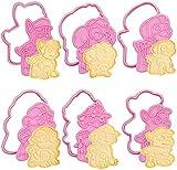 Juego de 12 moldes para galletas, diseño de Patrulla canina