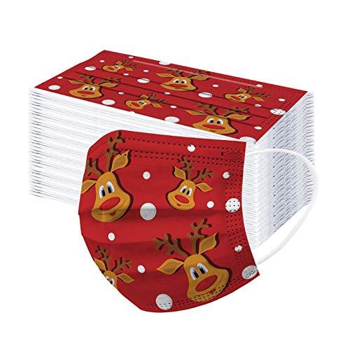 SicongHT Kinder Jungen Mädchen Einweg Mundschutz Schlauchtuch Lustig Weihnachten Sport Motorrad Halstuch Biker Tuch Bandana Kopftuch Mund und Nasenschutz(100 Stück,A)