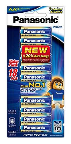 Panasonic AA Evolta Premium Alkaline Batteries (LR6EG/18B), 18 Pack
