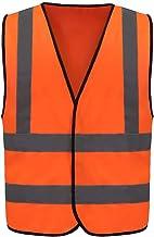 Veiligheidsvest Reflecterend waarschuwingsvest Werkkleding Hi VIS Vest voor auto, fiets, wasbaar, 12 kleuren