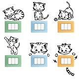 Adesivi Murali Bambini Premium Kit - Accessori Decorativi per la Casa, Wall Stickers Muro Camera da Letto, Cameretta, Cucina, Bagno - Stencil da Parete - Decorazioni per Agenda con Simpatici Gatti