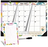 2021-2022 Magnetic Calendar for Fridge by StriveZen, 16x12 inches, Large Monthly, Paper, Tear-off, April 2021 -December 2022, Dry Erase Notepad/Grocery List and Dry Erase Marker