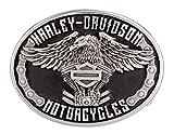 Harley-Davidson Men's Eagle Rider Polished Silver Finish Belt Buckle HDMBU11133