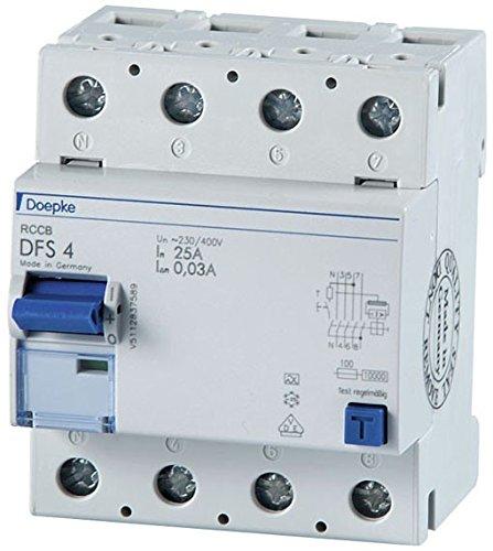 Doepke FI-Schalter DFS4 040-4/0,03-A Fehlerstrom-Schutzschalter 4014712090064