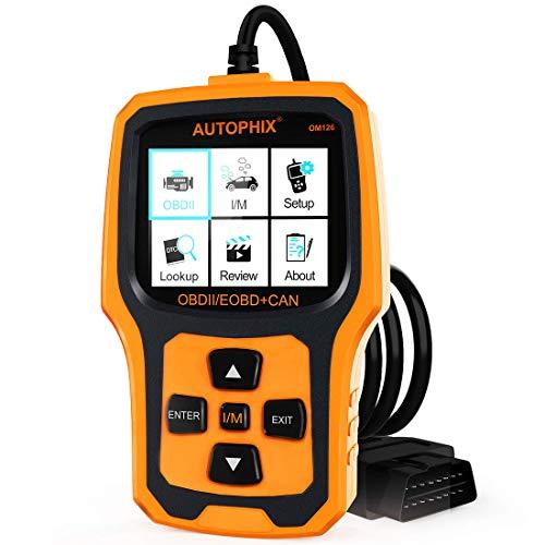 Gyj&mmm OBD2 Auto Diagnosegerät Universal OBD II Code Scanner Motordiagnose Werkzeug KFZ PKW Fehlerauslesegerät Mit Sauerstoffsensortest (Schwarz-Orange)