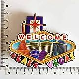 shenlanyu Imanes de nevera Las Vegas Creativos Imanes de Refrigerador Set Mundial y Ciudad Turismo Estados Unidos Las Vegas Edificio Nevera Imán Regalo