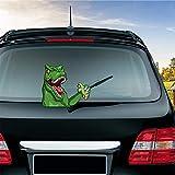 MIYSNEIRN Rear Window Wiper Decal Dinosaur Waving Wiper Arms 3D Funny Cartoon Festive for Car Bumper Sticker Waterproof Wiper Vinyl Decal for Vehicle Rear Wipers Decor