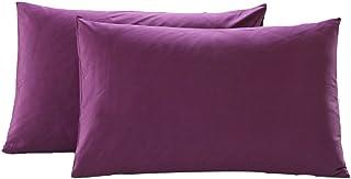 CHRISLZ Lot taies d'oreillers, respirantes, très douces, taille standard, 48 x 74 cm