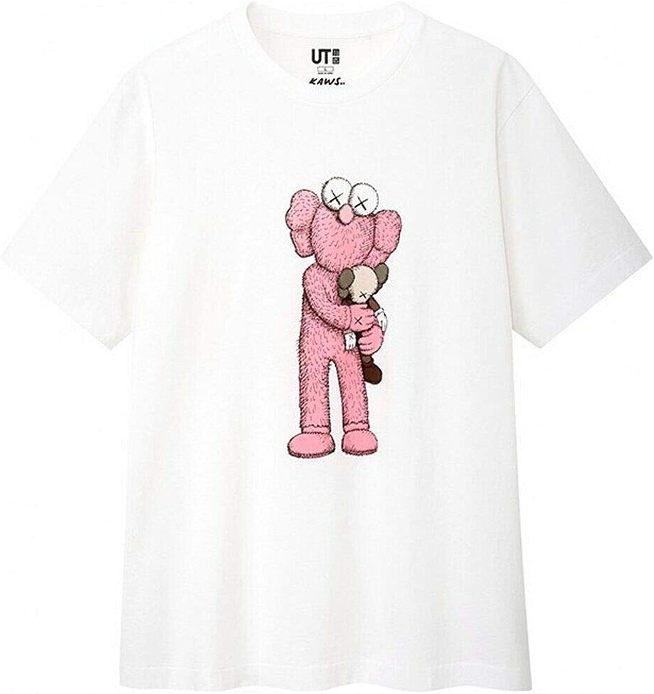 KAWS X Uniqlo - Camiseta de Manga Corta para Mujer, Color Rosa