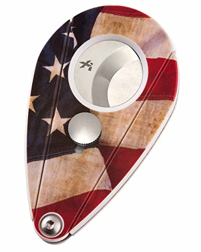 Xikar Xi2 Cigar Cutter, 440 Stainless Steel Blades with Rockwell C Rating of 57, Attractive Gift Box, US Flag