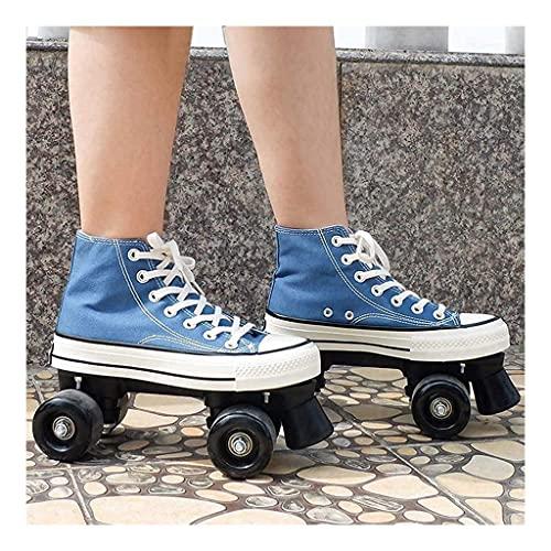 Patines de rodillos para mujeres, niña, hombres, scooter de discoteca patines para adultos para adultos adecuados para carretera y halle, patinaje cuádruple led para niñas para niños en interiores