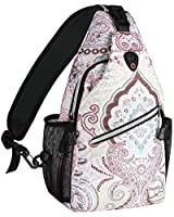 MOSISO 13 inch Sling Backpack, Hiking Daypack Pattern Outdoor One Shoulder Bag, National Style
