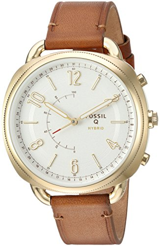 Fossil Hybrid Smartwatch - Q Accomplice zand leer FTW1201