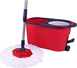 JUAN Spin Mop Home Cleaning System,Floor Mop with Bucket Hardwood Floor Cleaner,Rotating Mop Home Free Hand Wash Wet and Dry