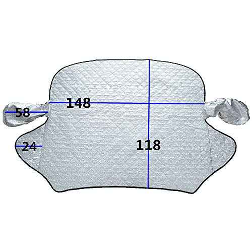 Asdomo - Funda universal para parabrisas de coche, bordes magnéticos, protector de nieve para coche, protector contra heladas, protector contra el polvo para parabrisas, hielo y helado en todas las condiciones meteorológicas