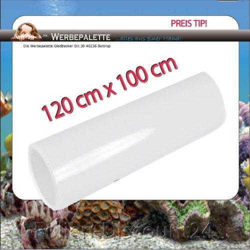 (EUR 5,75 / vierkante meter) Aquarium Terrarium achterwand folie wit 120 cm x 100 cm TOP ! Prijs
