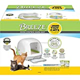 Purina Tidy Cats Hooded Litter Box System, BREEZE Hooded System Starter Kit Litter Box, Litter Pellets & Pads, 10.37 lb...