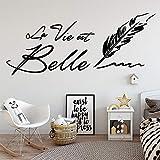 Decoración de jardín de infantes francés oración vinilo etiqueta de la pared papel tapiz dormitorio decoración jardín de infantes decoración de la habitación pegatina decoración del hogar 102x42 cm