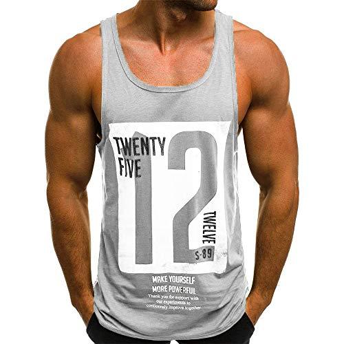 Beonzale Männer Beiläufiger Dünner Buchstabe Der Art- Und Weisemänner Druckte Ärmelloses Trägershirt-T-Shirt Tops Für Herren Sweatshirt