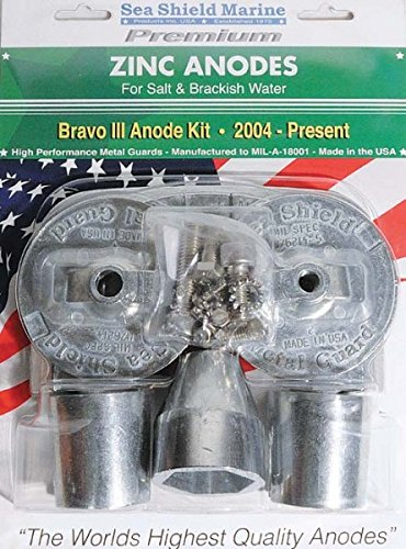 Sea Shield Marine Mercruiser Bravo 3 Zinc Anode Kit