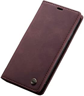 Flip Leather Case For iPhone 11 pro MAX - Burgundy