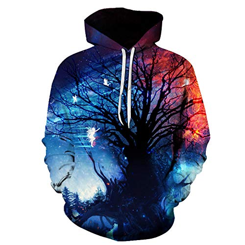 XiaoWeiFC Impresión 3D Rubik'S Cube Couple Unisex 3D Hoodie Loose All-Match Top Pullover-Wy310_S