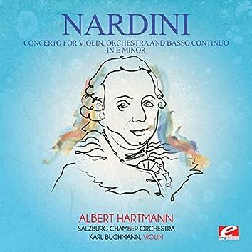 Nardini: Concerto for Violin, Orchestra and Basso Continuo in E Minor (Digitally Remastered)