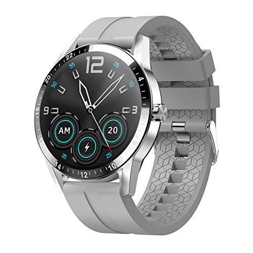 Montloxs Reloj Inteligente de 1.3' Reloj para teléfono Monitor de presión Arterial y Asistente de Voz IP67 Reloj Impermeable con Pantalla táctil Completa Rastreador de Ejercicios