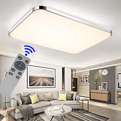 Deckenleuchte, 72W, ultradünn, LED, dimmbar, modern, Flur, Wohnzimmer, Küche, Schlafzimmer, Energiesparlampe, Fernsteuerung 72W, Regulierbar