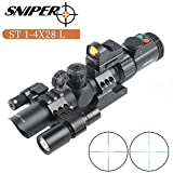 Best Ar Scopes - Sniper ST1-4X28L AR Tactical Rifle Scope Combo REDDOT Review