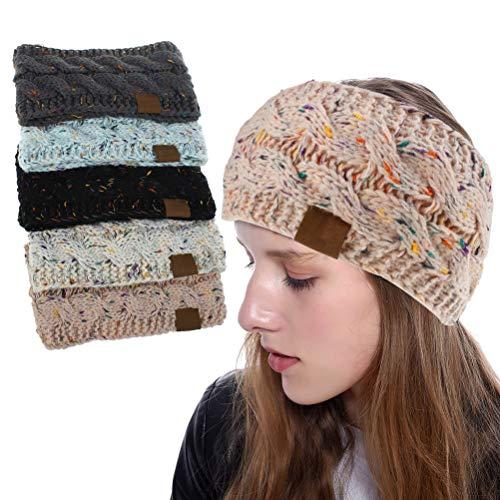 Chilits 1 diadema de invierno para mujer, de punto de cable grueso, cálido, suave, calentador de oídos, elástico, para mujeres y niñas