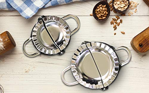 Great Deal! 2 Pack Stainless Steel Dumpling Ravioli Maker