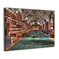 Skydoor J パネル ポスターフレーム 本棚柄 書棚柄 ヴィンテージ風 インテリア アートフレーム 額 モダン 壁掛けポスタ アート 壁アート 壁掛け絵画 装飾画 かべ飾り 30×20