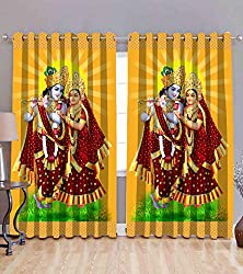 Le havre 3d printed curtains of lord krishna