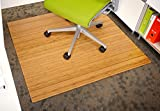 Anji Mountain Standard Bamboo Roll-Up Chairmat, 42 x 48-Inch, 5mm Thick, Natural