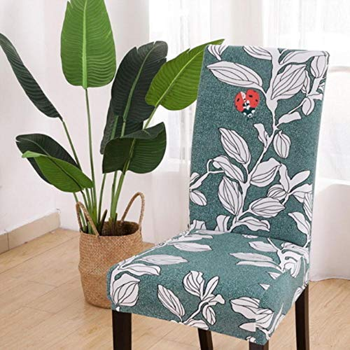 LIMMC 1/2/4/6 fundas elásticas de licra para sillas de boda, comedor, oficina, banquete, estampado floral, fundas para sillas, G, Estados Unidos