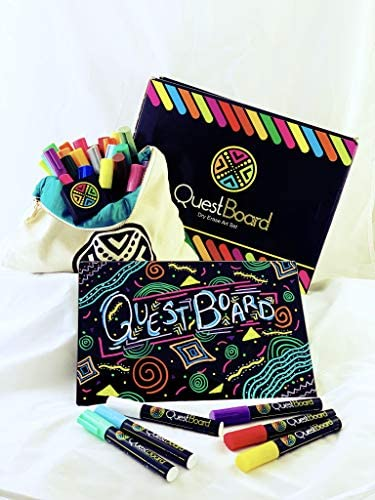 QuestBoard Paperless Art Set Ages 5 Art Therapy Enhanced Learning Creativity Going Green w Black product image