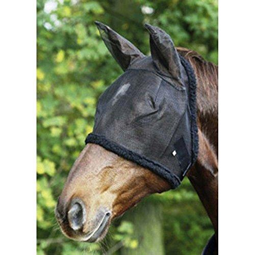 USG Fliegenmaske, sw., mit Ohrenschutz, Warmblut
